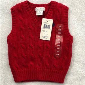 Red Ralph Lauren Sweater Vest